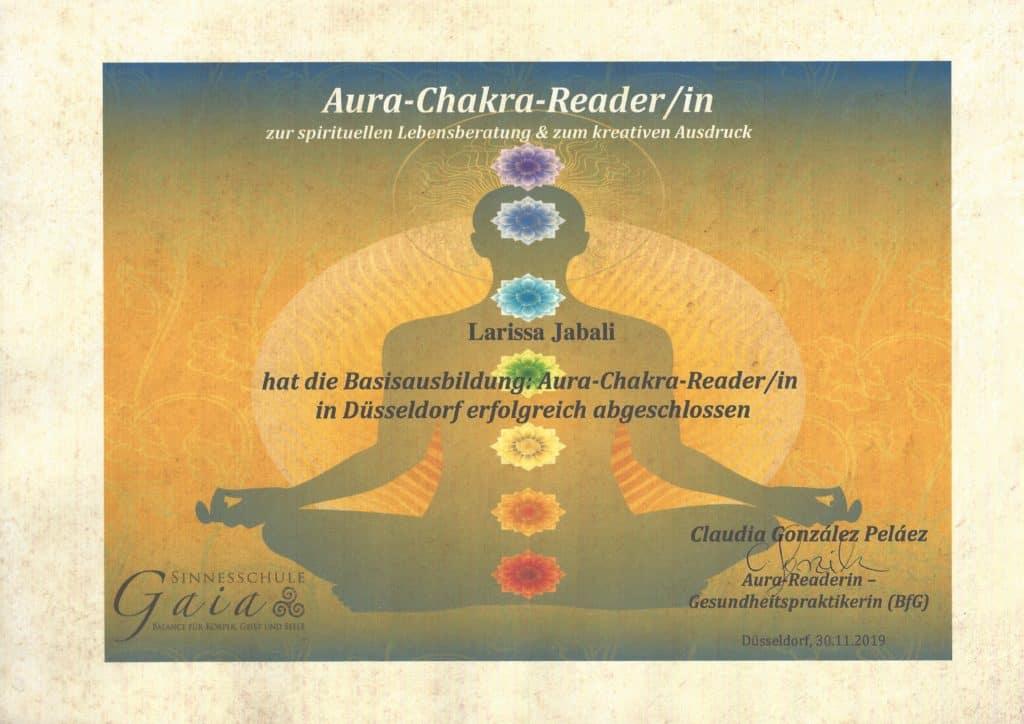 zertifikat-aura-Chakra-Readerin Larissa Jabali